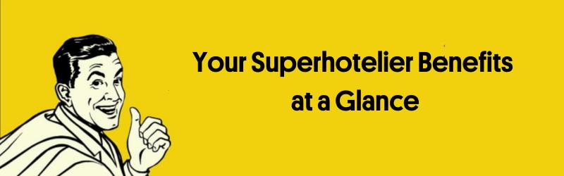 Banner Benefits Superhotelier Englisch
