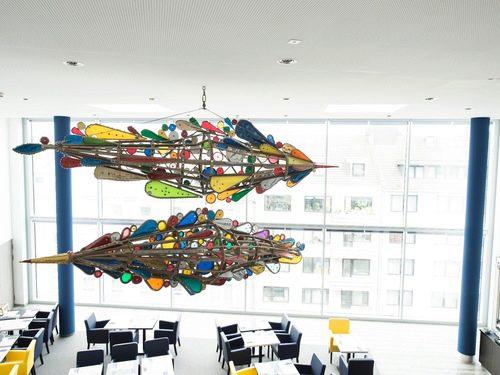 Kunst im Hotel_Peace Birds von Bombolo_carathotel Düsseldorf