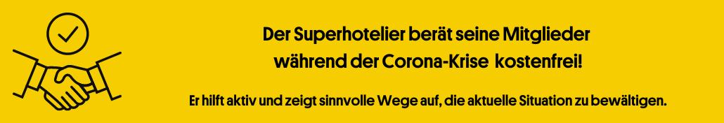 Corona Hilfe für Hoteliers Banner 2