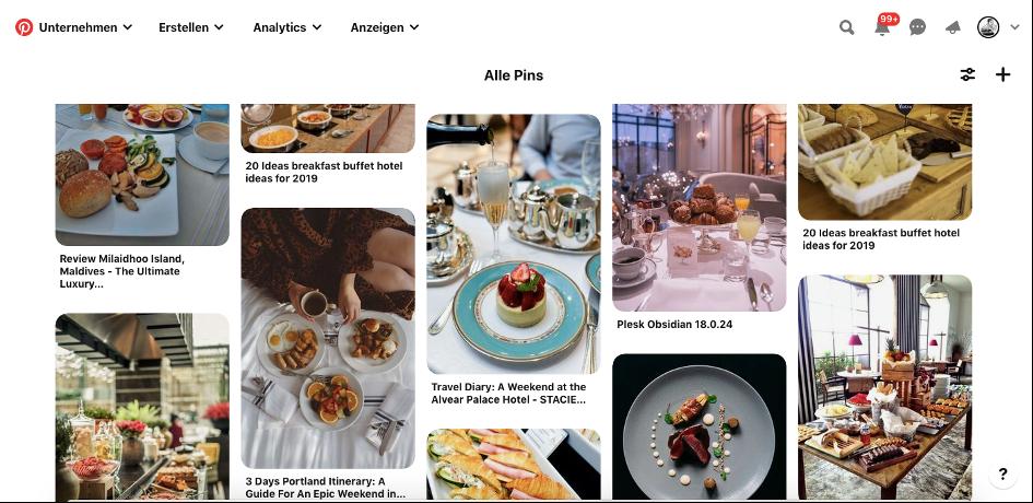 Pinterest für Hotels Bild Pins Blogbeitrag