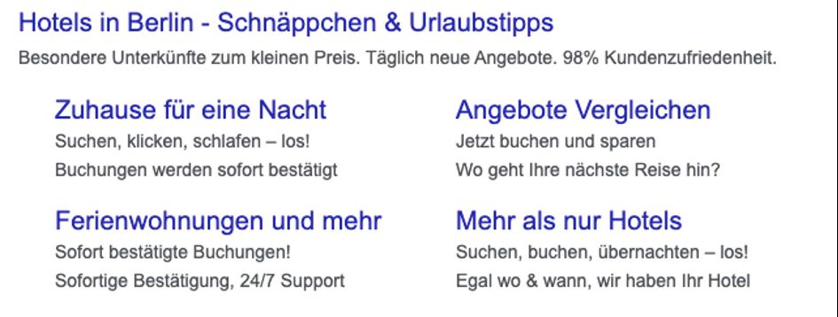 Google Ads Beispiel Anzeige