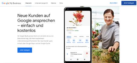 Google My Business Tipps Startseite Beispiel